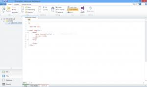 Figure 3: WebMatrix minimal web page